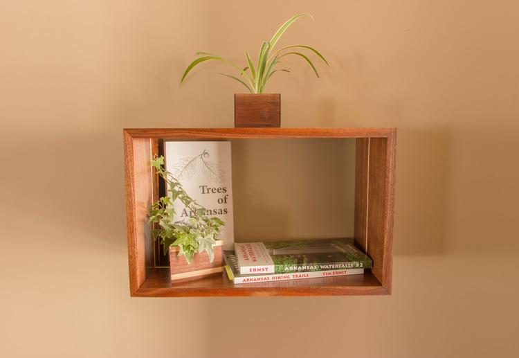 Floating Box Shelf floating open box shelf walnut | maple — board bros. design