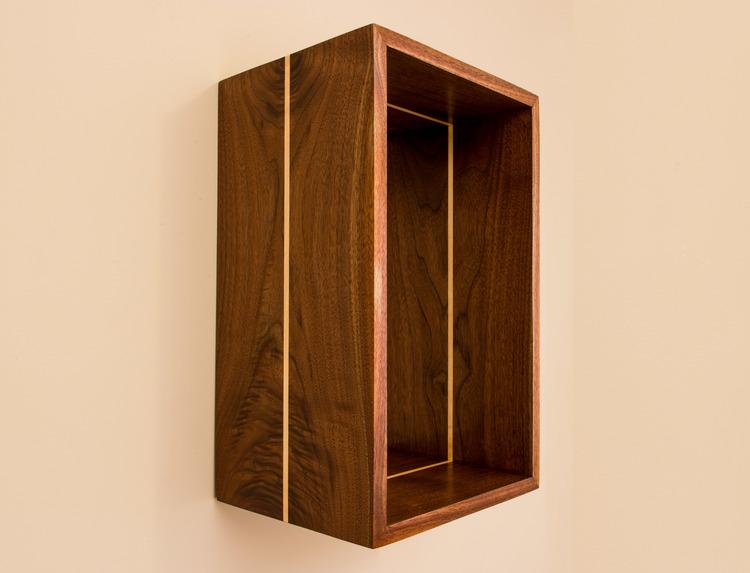 Floating Open Box Shelf Walnut | Maple