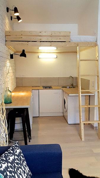 mezzanine en dessous de la cuisine