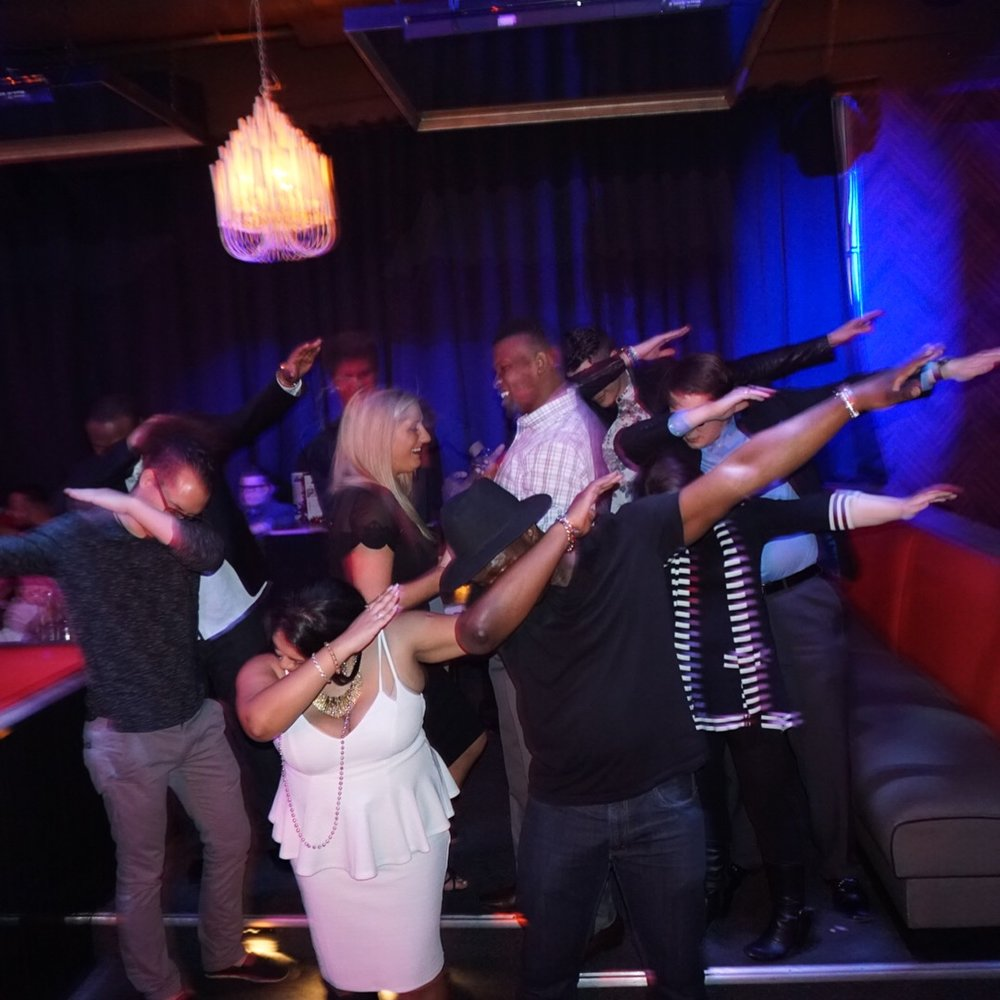 This was my birthday event! Everyone dabbed...except the love birds.