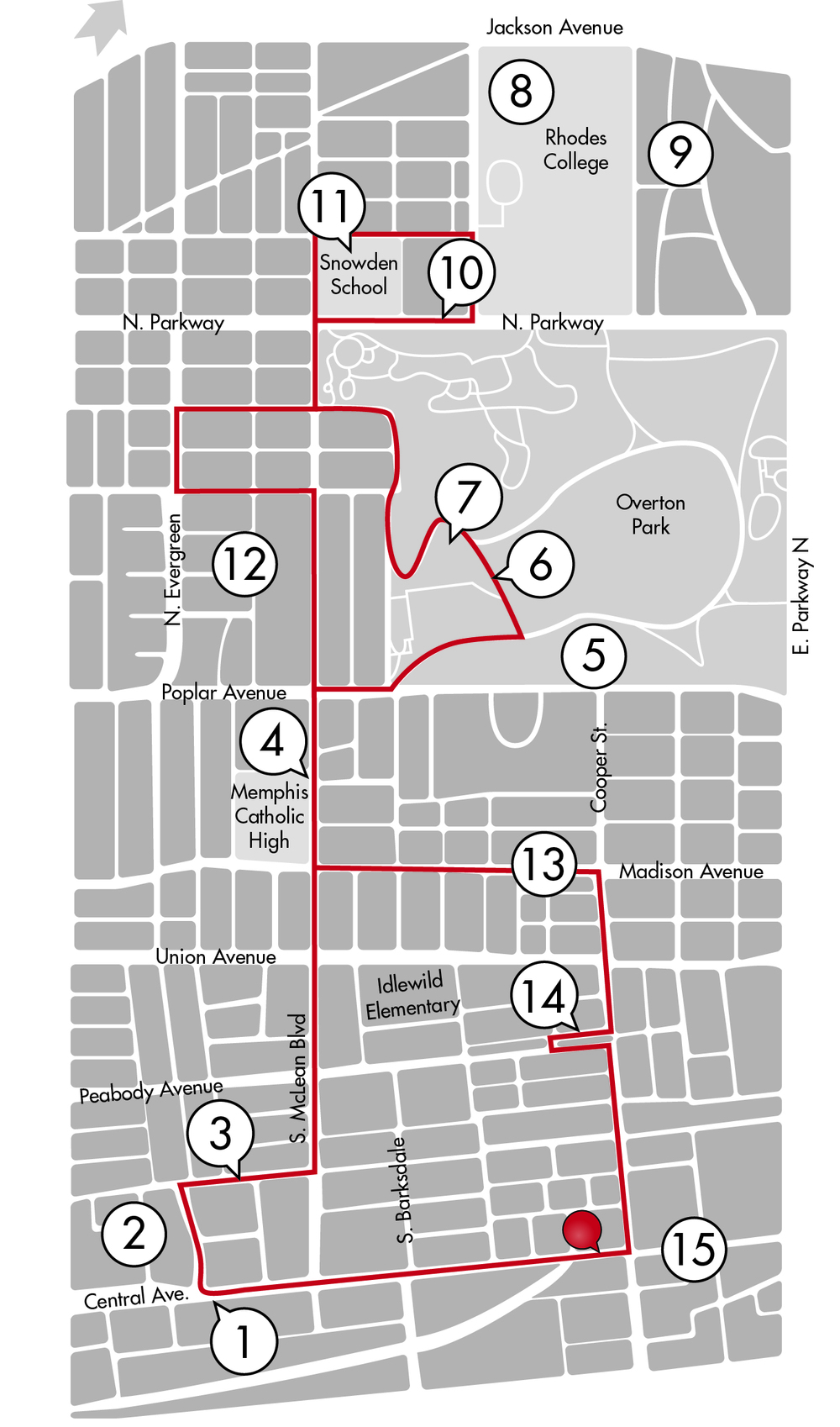 Midtown Memphis: Tour 1 Online Guide Printable Guide
