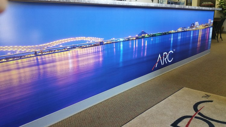 Arc document solutions aia memphis wall mural arc front counter memphis tn image dh malvernweather