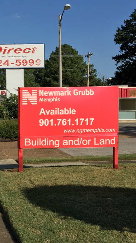 Construction of site signage, NGKF; Memphis, TN | Image: DH