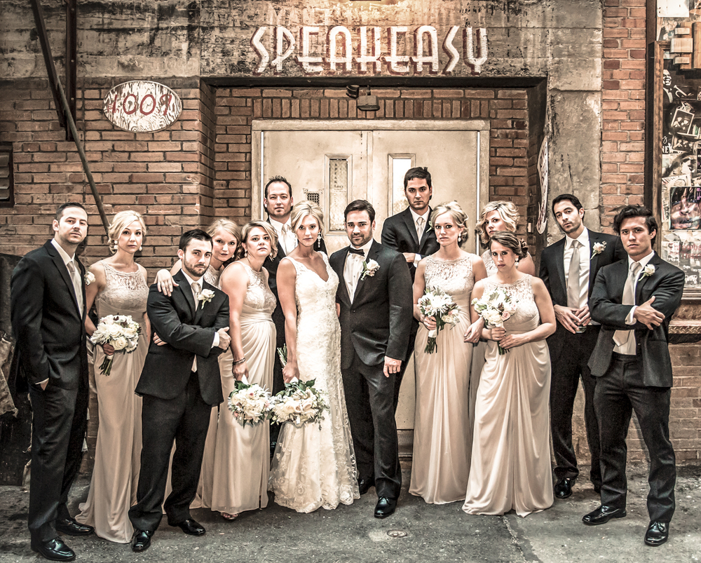 Vintage Vibe Wedding Party