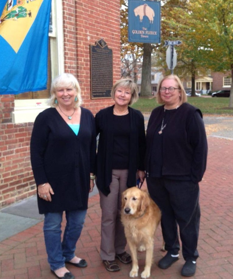 N Taylor Collins, Jan Crumpley and Susan Johnston opened Parke Green Galleries in 2013 along with Susan'sdog Painter (shown) and Jan's dog, Milo (not shown). Susan has since retired and Taylor and Jan now hosts featured and guest artists in Susan's space. We maintain our studios and galleries here and feature many events like receptions for First Weekends and Lunch and Learn Thursdays. Stop by and visit soon.
