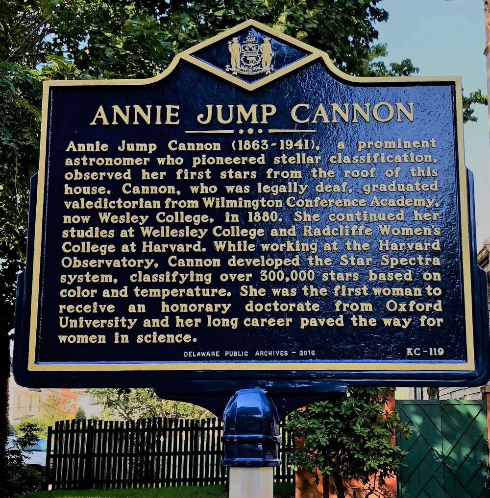 Cannon Home open 12/9/18 - Annie Jump Cannon Birthday Celebration is celebrated each December.  For details please visit the website for info.