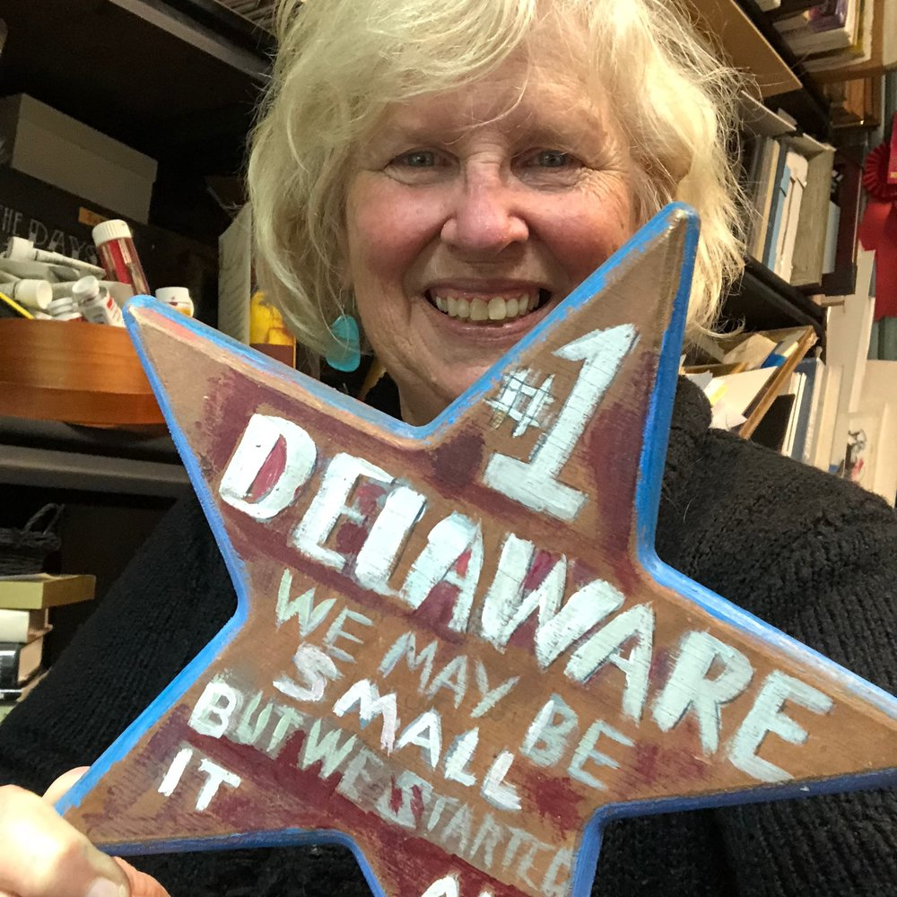 Not the walk of fame… - but you can stand where Delaware became number 1. Taylor will even take your photo and share to Facebook.