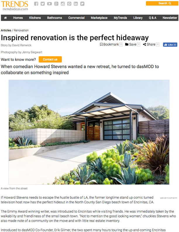 TRENDS | NOVEMBER 13, 2017  Inspired Renovation is the Perfect Hideaway.