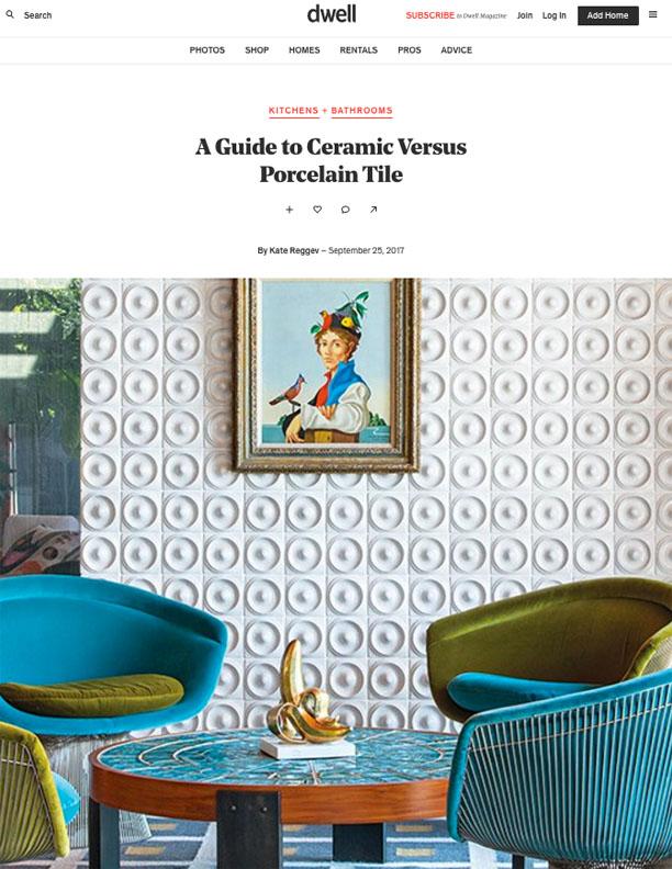 DWELL | SEPTEMBER 25, 2017  A Guide to Ceramic Versus Porcelain Tile.