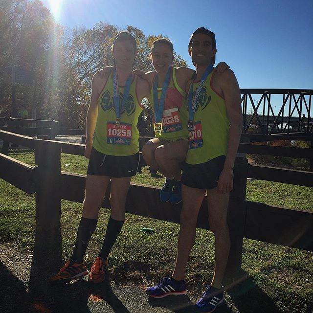 Incredible day at the Richmond Half Marathon for Anchored Elite! All 3 of these runners ran either personal bests or great debuts! We are so proud of the great progress everyone is making!! @jaidenbrandt - 1:07:59 *PR @thebarkknight24 - 1:12:00 *Debut @jacyda - 1:21:42 *Debut  #anchoredelite #halfmarathon #runforanother #runjanjj #runnerspace #richmondhalf #pr #roadracing