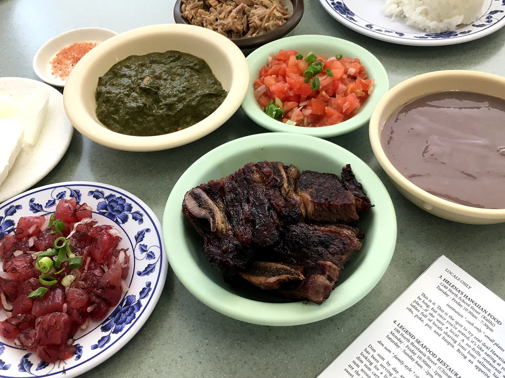HELENA'S HAWAIIAN FOOD (set Menu D + poke…the way to go)