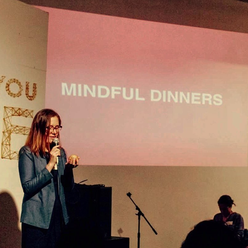 I am giving a speech at Shine on Mindful Dinners!