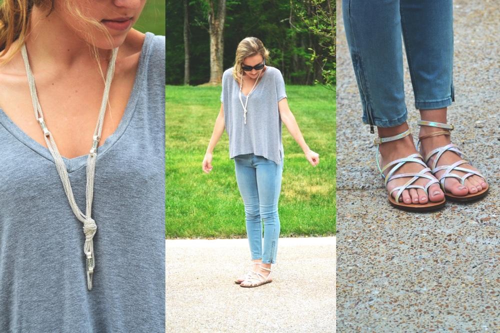 top: brandy melville; necklace: h&m; jeans: BCBG; shoes: j crew; lipstick: BITE beauty lip crayon in amaretto