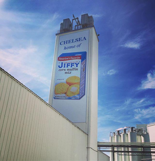 Newly installed Jiffy banner! #cornbread #jiffy #chelsea #mi
