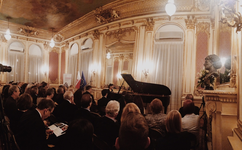 Filming + Recording a concert film at the Polish Consulate for Yamaha Pianos / March 2015
