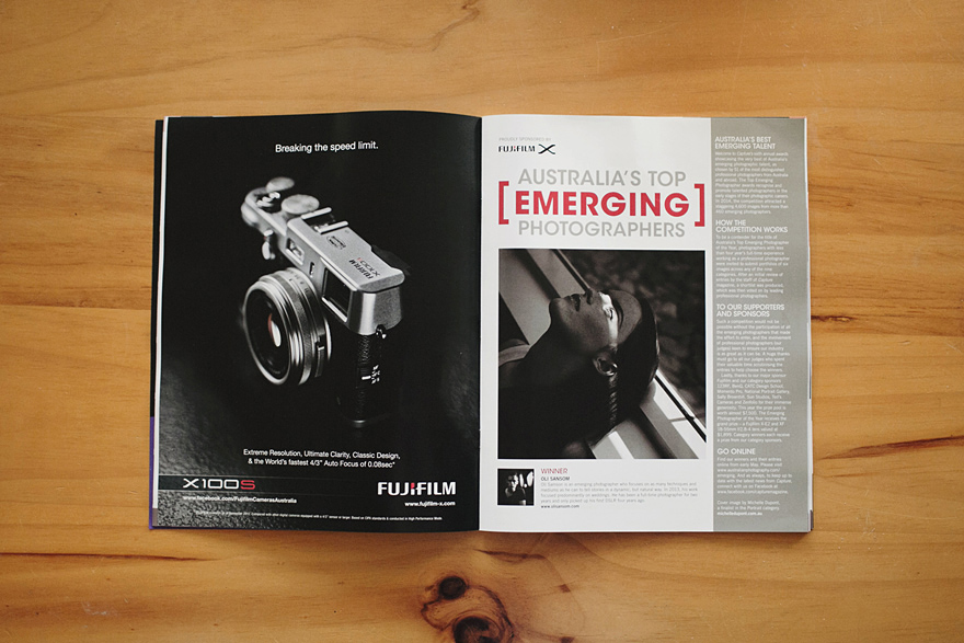 Capture Magazine - Top Emerging Wedding Photographer 2014 - Aimee Claire Photography
