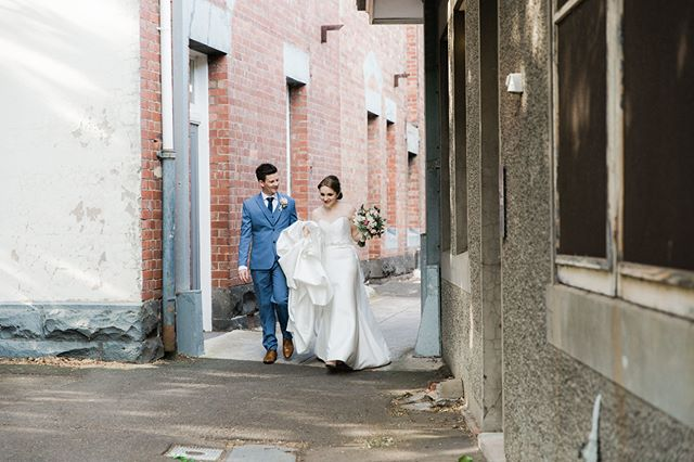 Off to the party! Check out this week's blog post (link in profile) for more from Hannah & Tony's lovely wedding, shot by @juliaarchibaldphotographer