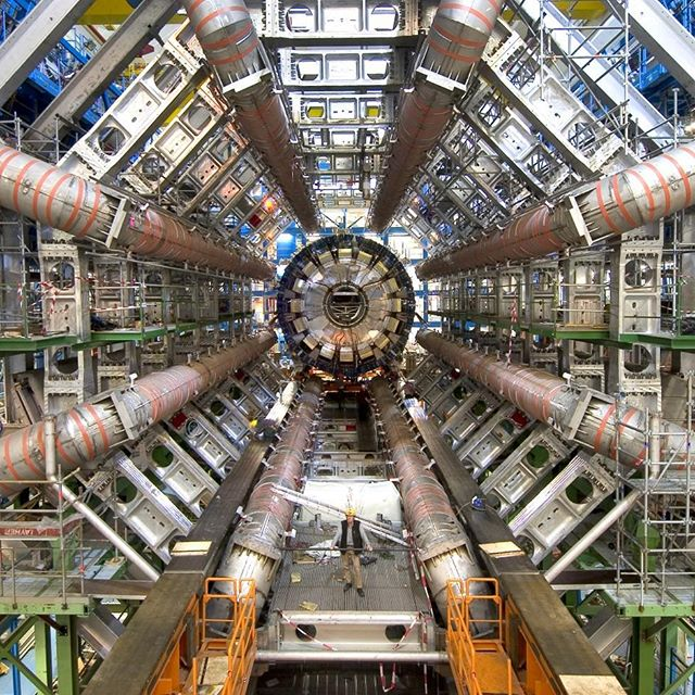 """""""The LHC is the most complicated machine ever built, requiring new building techniques and new tools to be created. Thousands of PhD scientists and engineers from hundreds of countries speaking dozens of languages, and hailing from a background of at least an equal number of religions, were required to build the accelerator and the detectors that monitor it—taking almost two decades to complete the task. Its scale dwarfs that of all machines constructed before it. And it was built for no more practical reason than to celebrate and explore the beauty of nature. Seen in this perspective, the cathedrals and the collider are both monuments to what may be best about human civilization—the ability and the will to imagine and construct objects of a scale and complexity that requires the cooperation of countless individuals, from around the globe if necessary, for the purpose of turning our awe and wonder at the workings of the cosmos into something concrete that may improve the human condition. Colliders and cathedrals are both works of incomparable grandeur that celebrate the human experience in different realms."""" The Greatest Story Ever Told—So Far (Lawrence M. Krauss) . This is not a read I would recommend to most folks, it is dense to say the least. That said, it does a good job of imparting just how strange and non-intuitive our would is at it's most fundamental level. I would however recommend listening to Lawrence Krauss speak and have conversations with people...fascinating stuff. . #booksofinstagram #books #quote #booksofig #lawrencekrauss #greateststory #physics #particlephysics #lhc #cern"""