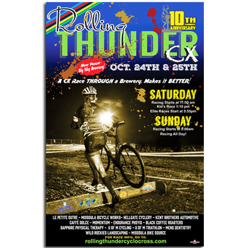Rolling Thunder Cyclocross Poster