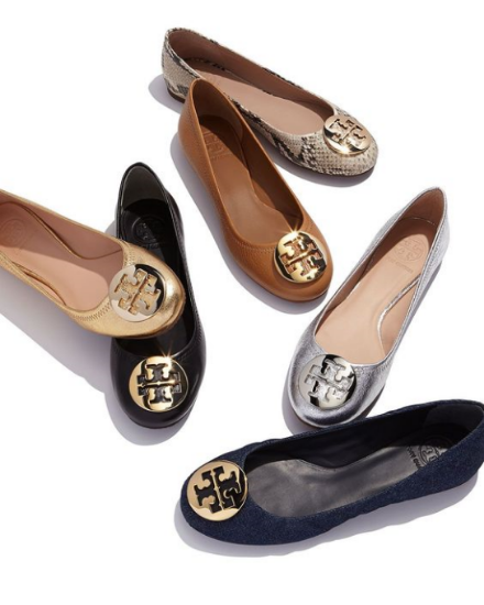 The most loved flat ballerinas from Tory Burch worn by