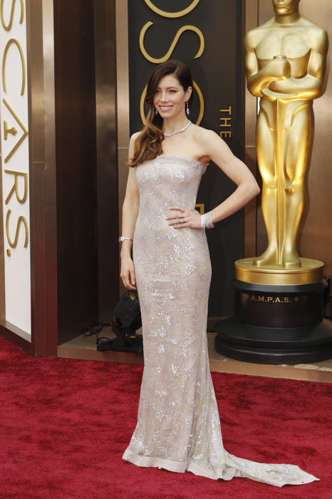 Jessica Biel in one of the most expensive gowns created by Chanel