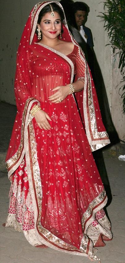 Vidya Balan's wedding dress