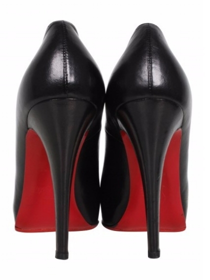 Click on the image to own these pair of Christian Louboutin Black Rolando Leather Pumps With Platform.