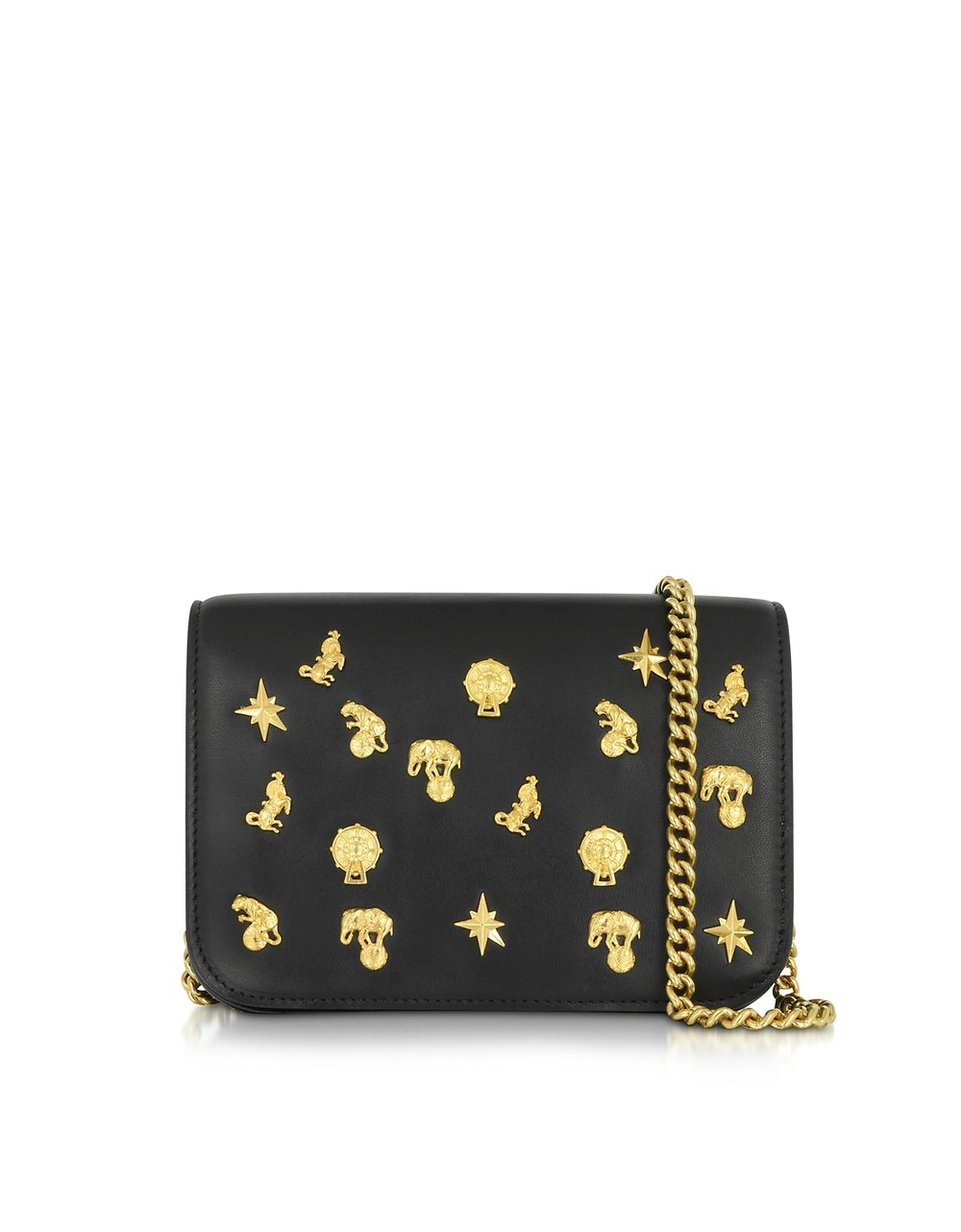 Roberto Cavalli Black Leather Mini Shoulder Bag