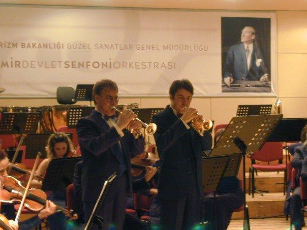 Performing with Erden Bilgen with Izmir Symphony Orchestra