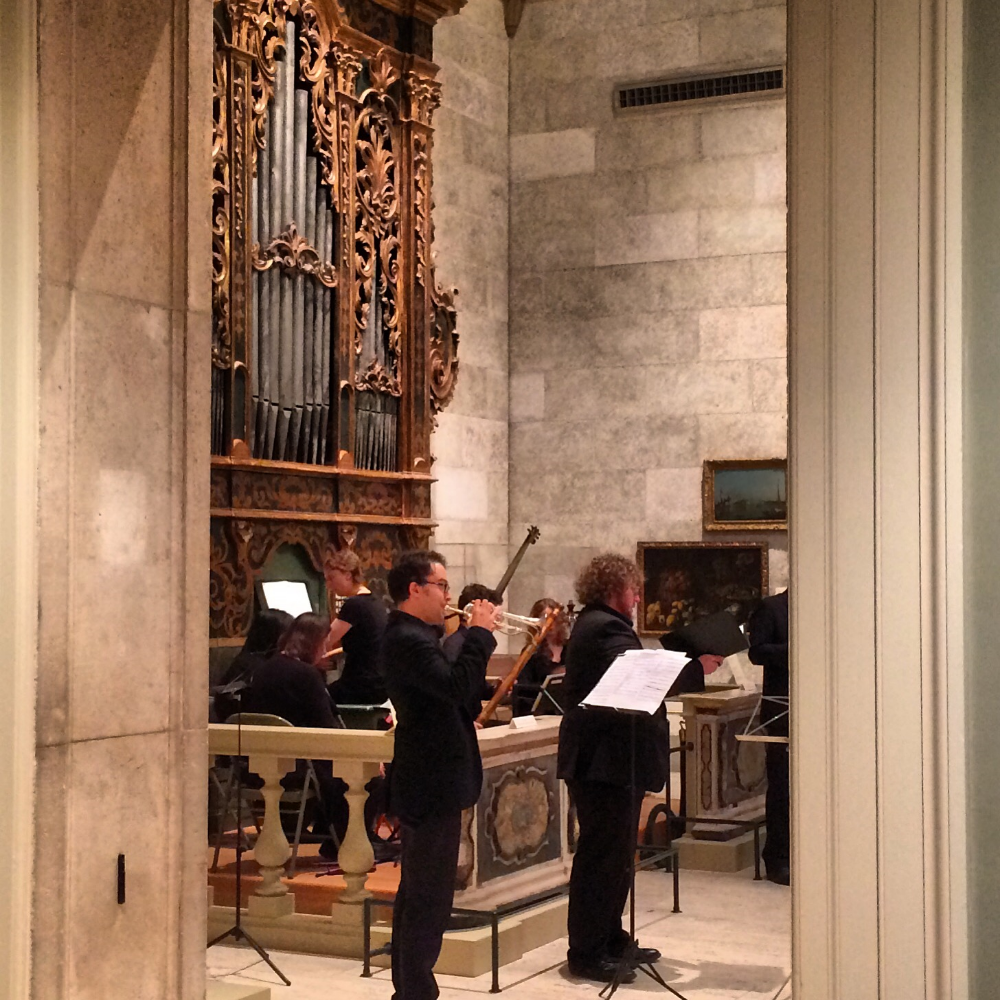 From Thursday concerts, Eastman's Italian Baroque organ @ Memorial Art Gallery, Rochester, NY
