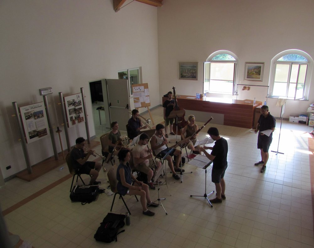 Rehearsing Edgar Varèse's Octandre in Maccagno, Italy (close to Varèse)