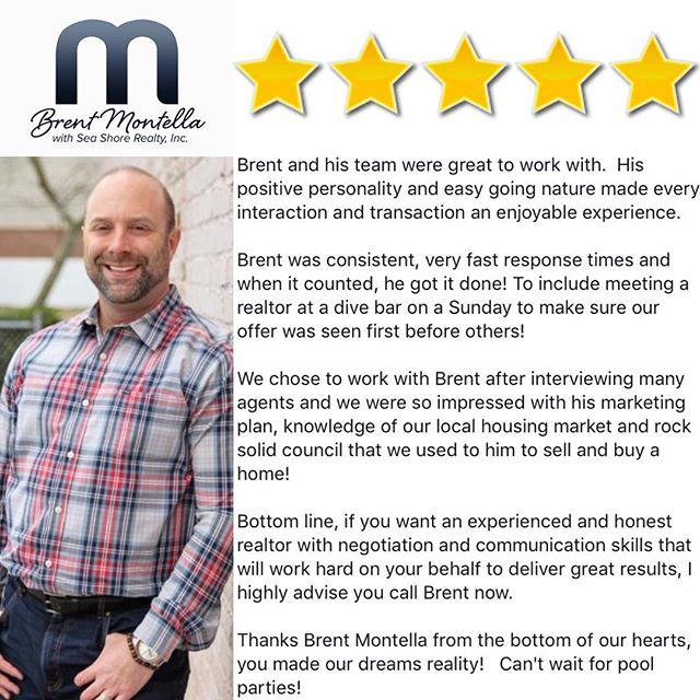 #clientsbelike #thankful #reviews #mywhy #realestate #realtorslife #seashorerealty #5stars