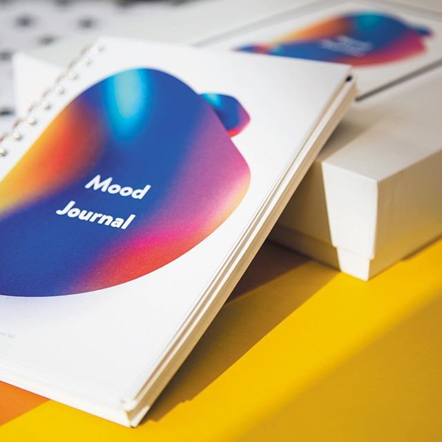 Mood Journal: A tool to help you track your mood and establish positive habits. —— I'm back IG! 👋 thought I might start again with a throwback to my thesis project  #design #mentalhealth #printdesign