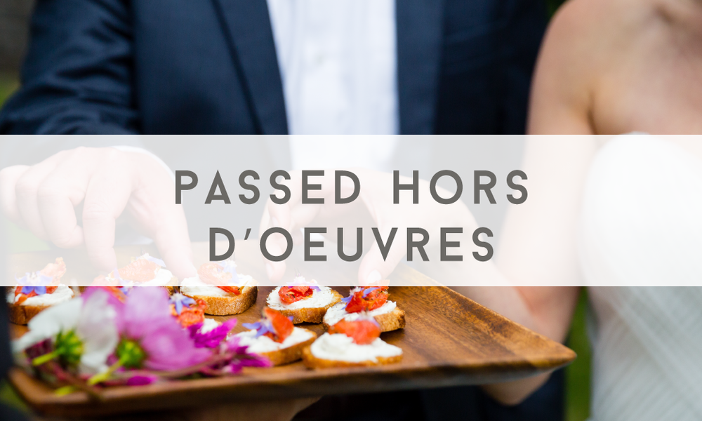 Passed Hors D'Oeuvres - Catering Menu - Maine wedding and event catering - Trillium Caterers