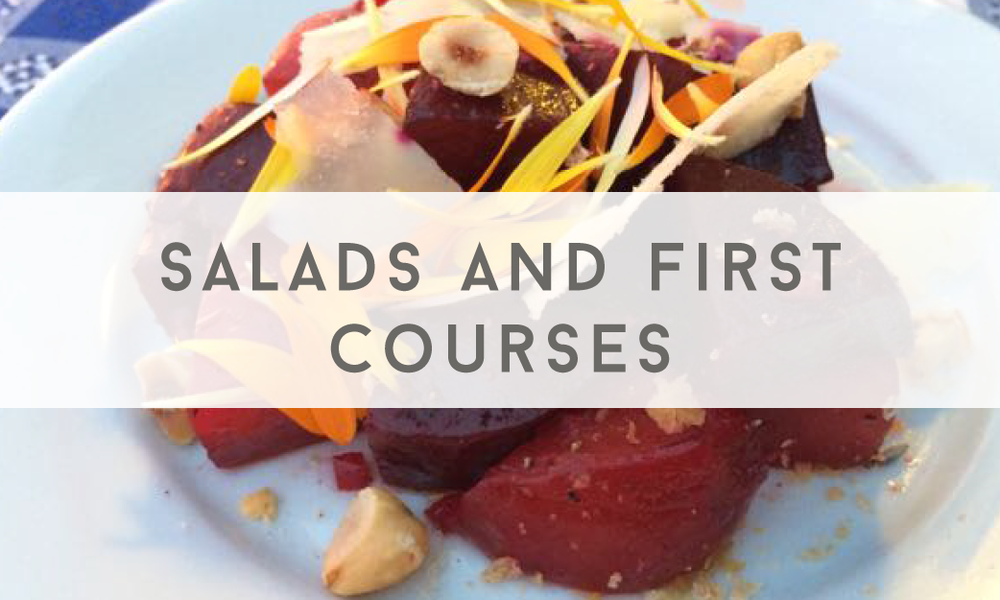 Salads and First Courses - Catering Menu - Maine wedding and event catering - Trillium Caterers