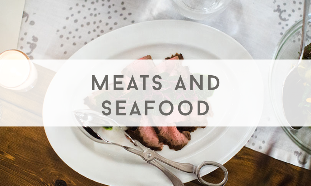 Meats and Seafood - Catering Menu