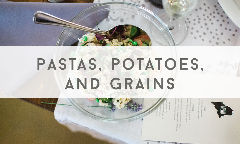 Pastas, Potatoes, and Grains - Catering Menu - Maine wedding and event catering - Trillium Caterers