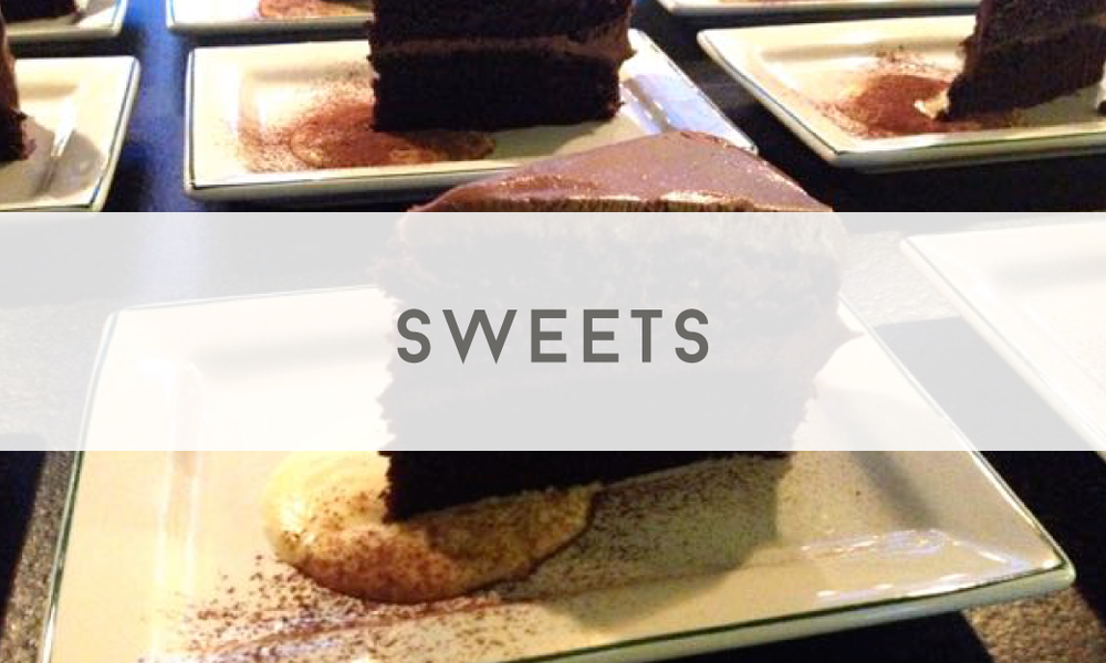 Sweets - Catering Menu - Maine wedding and event catering - Trillium Caterers