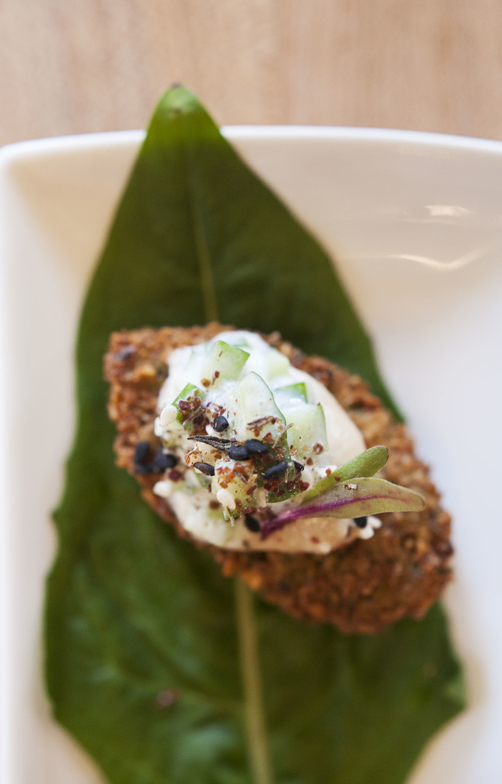 Crispy Falafel with Cucumber-Mint Yogurt and Za'atar