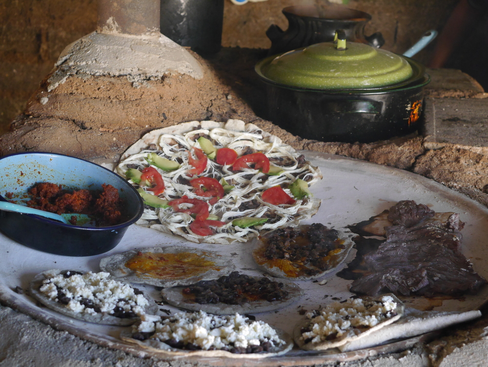Tlayuda, Cecina, and Handmade Tortillas on a Comal in Oaxaca   | Trillium Caterers, Belfast, Maine