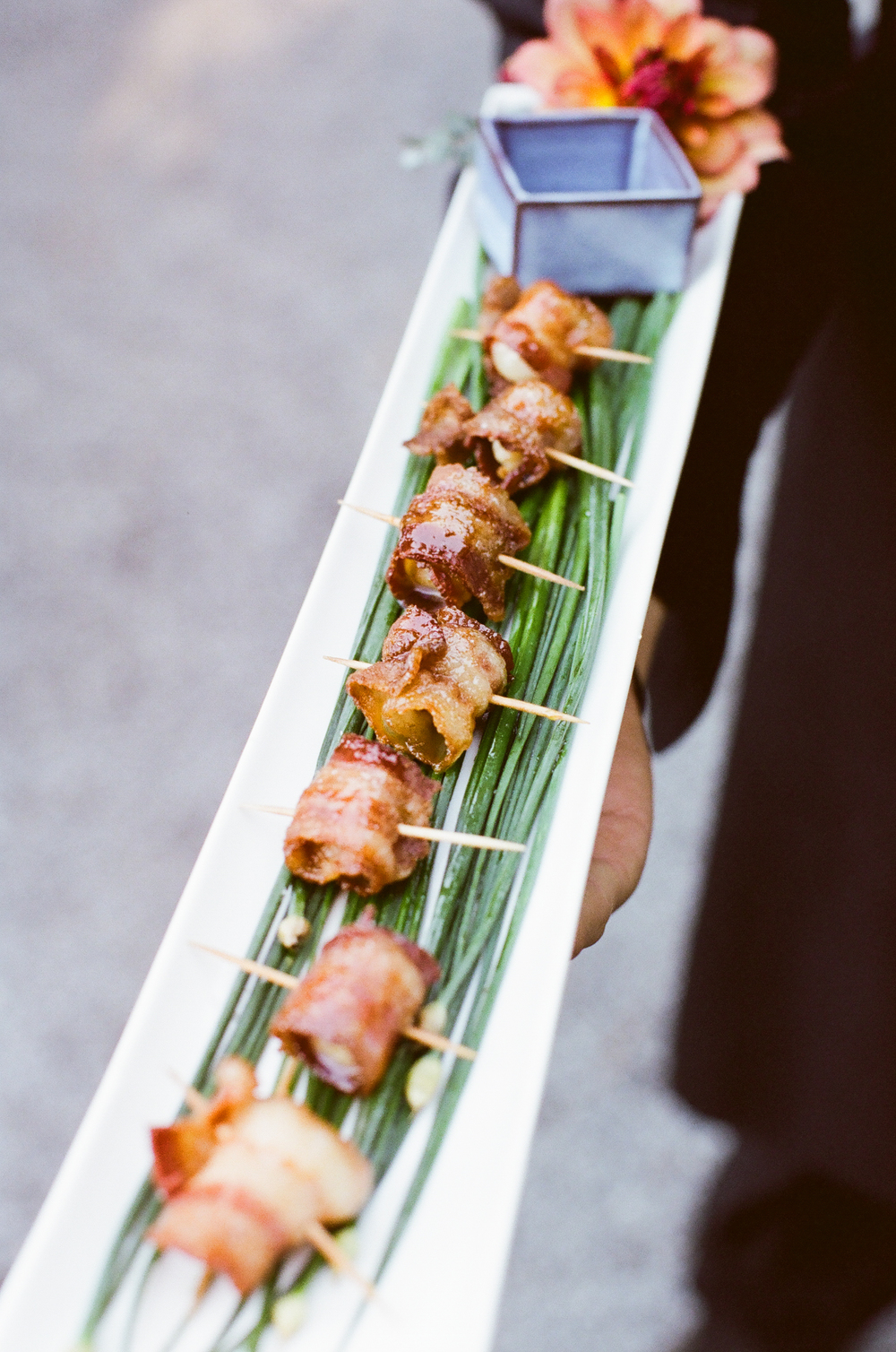 Maple Bacon Wrapped Scallops  | Trillium Caterers