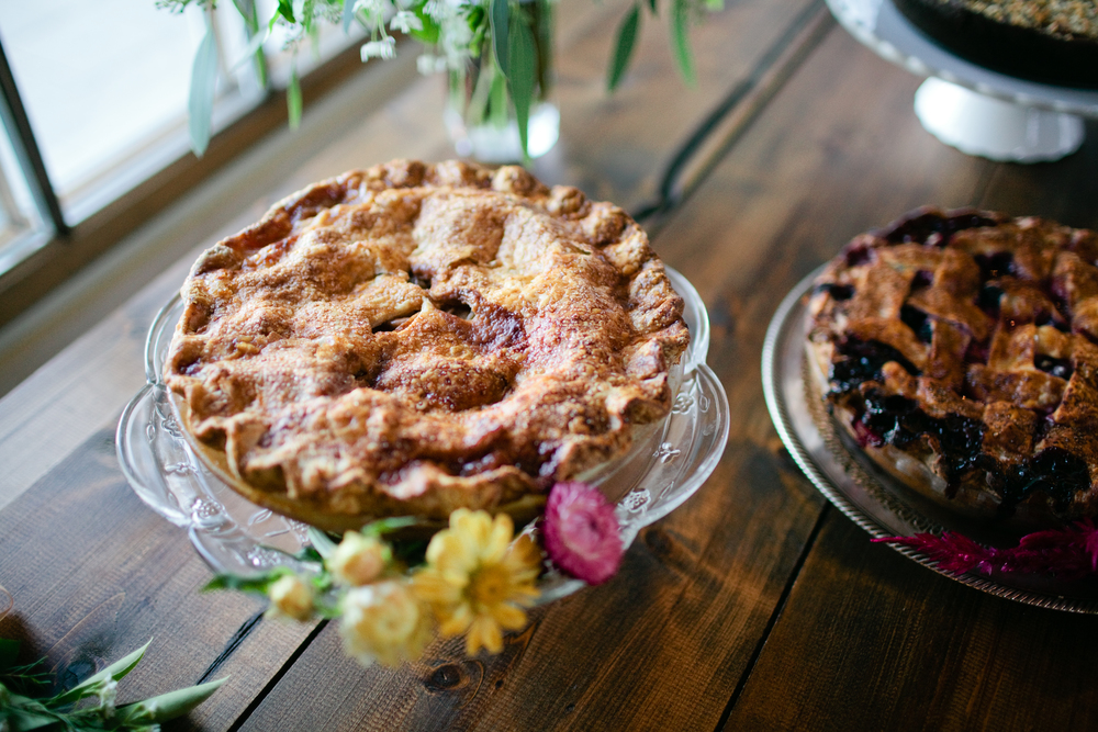 Salted Caramel Apple & Maine Blueberry Pies  | Trillium Caterers