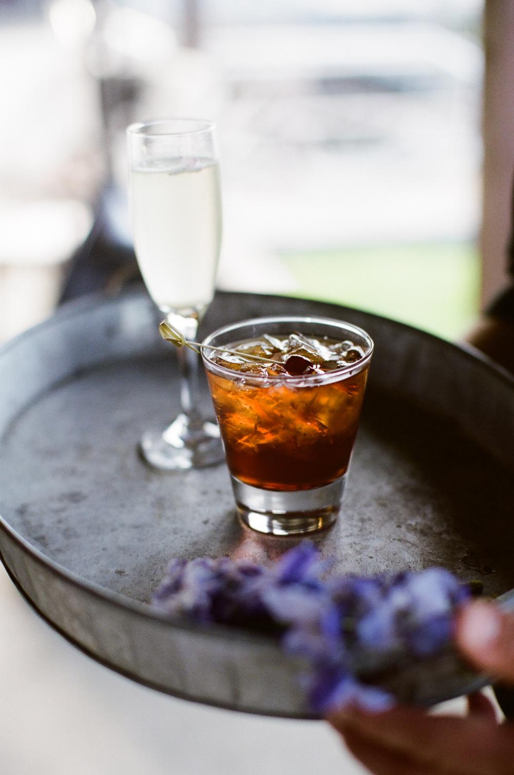 Elderflower Champagne Cocktails and Manhattans © Meredith Perdue