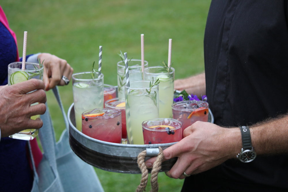 Cucumber & Rosemary Gin & Tonics, Blueberry Peach Whiskey Sours ©Sarah Morrill