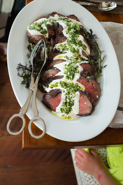 Roasted Beef Tenderloin with Fresh Horseradish Gremolata