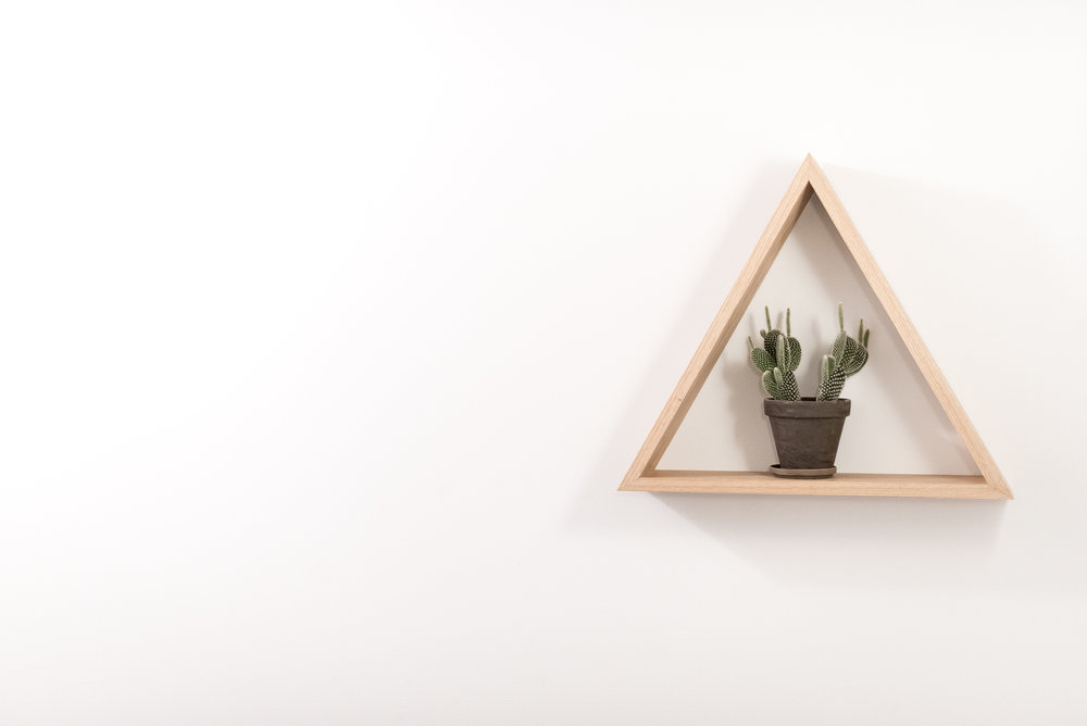 White Oak Triangle Shelf