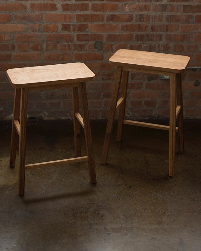 The new white oak stool.