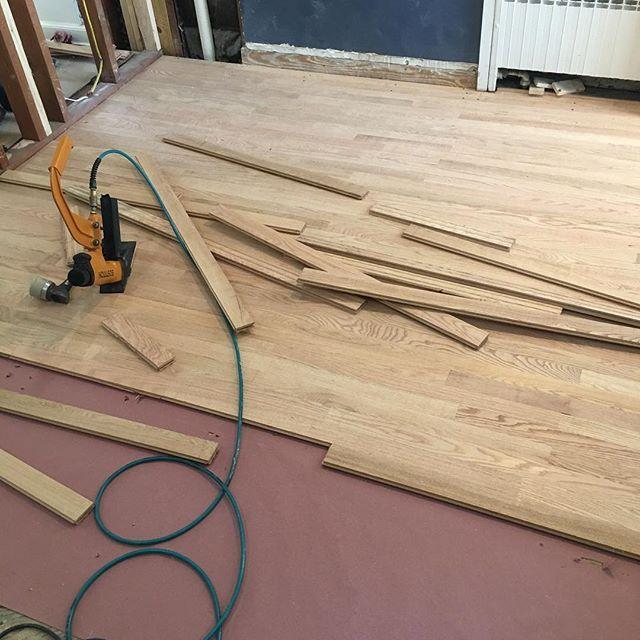 Running hardwood flooring today #westhartfordct #carpentry