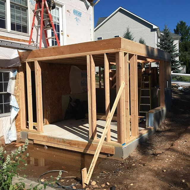 Started framing an addition in  #Middletownct today