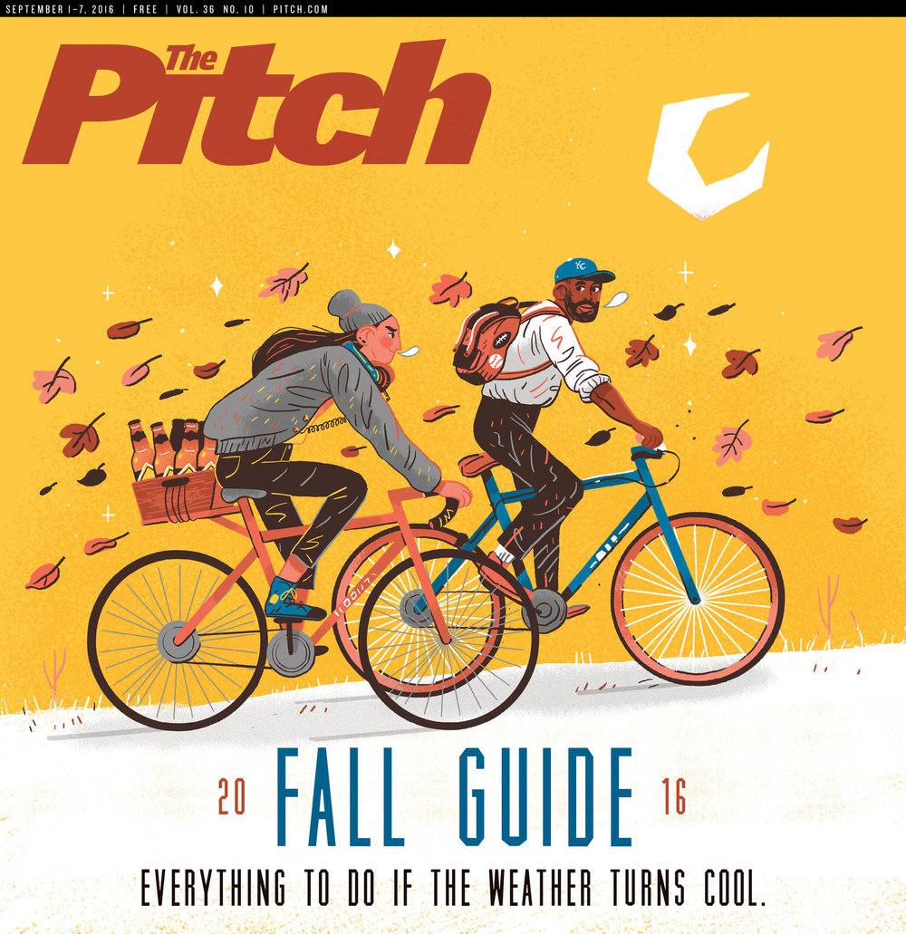 We love to see our artists working local. This month, every local reader got a taste of Kelsey's work on the cover of Pitch Magazine's Fall Guide issue!